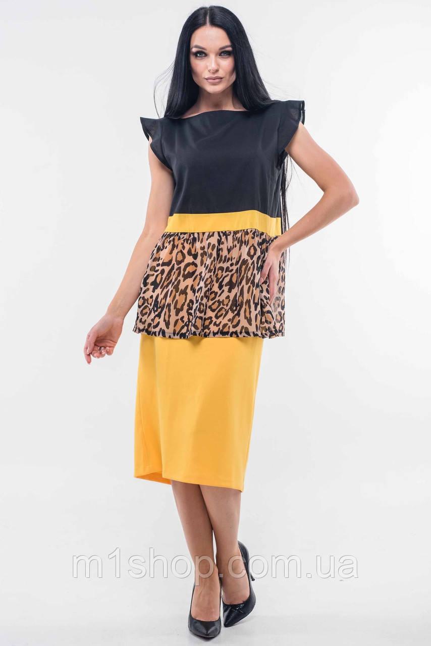Женский юбочный костюм с принтом леопарда (Лео-СИти ri)