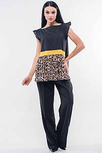Женский брючный костюм с леопардовой блузкой (Лео-Марти ri)