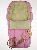 """Детский конверт-мешок """"Снеговик"""" розовый (85*40 см)"""