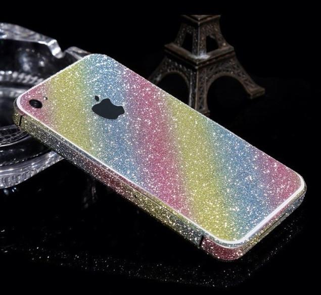Пленка с блестками для iPhone 4 4S