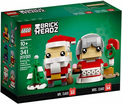 Lego BrickHeadz Мистер и Миссис Клаус 40274