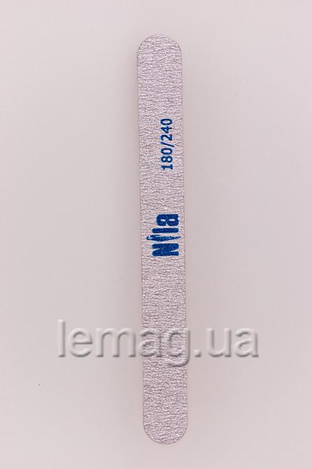 Nila Пилочка для ногтей Wood 180/240 (серая) , 1 шт