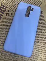 Чехол / бампер / накладка для Xiaomi Redmi Note 8 Pro оригинальный матовый цветной Silicone Case голубой