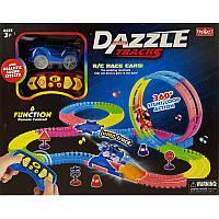 Автотрек Dazzle Tracks 130 на радиоуправлении, светится в темноте, 187 дет, 1 машинка, в коробке 37.