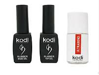 Rubber Base Kodi Professional 8 ml + Rubber Top Kodi Professional 8 ml + Ultrabond Kodi 15 ml