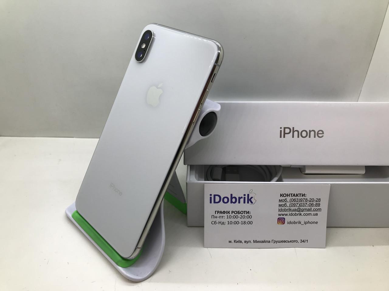 Телефон Apple iPhone XS MAX 64 gb Silver Neverlock 9/10