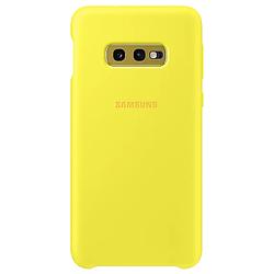 Чехол-накладка Samsung Silicone Cover Galaxy S10e Yellow