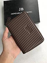 Стильный укорочённый кошелёк кожаный на молнии Jancarlo Baretti, фото 3