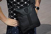Барсетка кожаная мужская Puma Ferarri X black / сумка через плечо / мессенджер