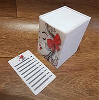 Лэшбокс для ресниц (5 планшетов) белый