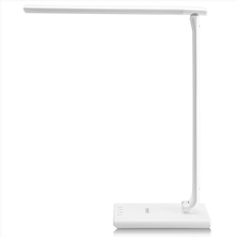 Светодиодная настольная лампа с USB-портом для зарядки мобильного телефона, белая