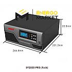 Инвертор напряжения MUST EP20-1000 PRO (1000 Вт, ИБП, 12В), фото 2