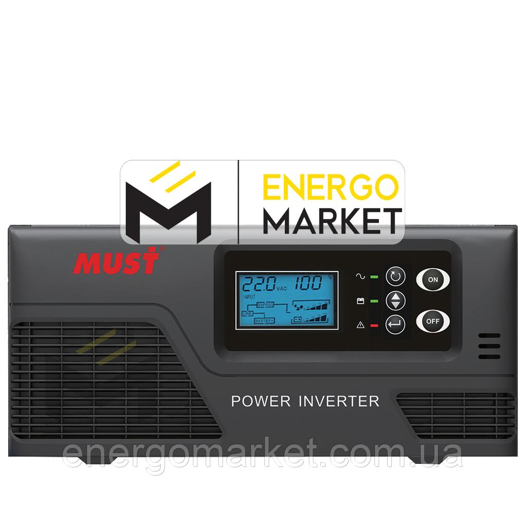Инвертор напряжения MUST EP20-1000 PRO (1000 Вт, ИБП, 12В)