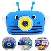 Детский цифровой фотоаппарат Smart Kids 4 серия с фронтальной камерой 20MP Full HD 1080P (Funny Bee Blue)