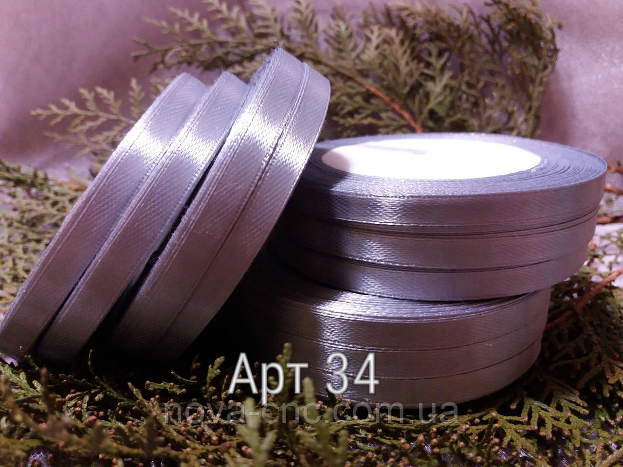 Стрічки атлас темно бузковий 0,6 мм 23 м