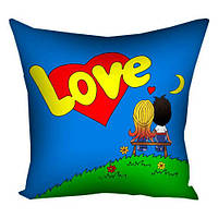 Подушка с принтом 40х40 см Love... (4P_PW080)