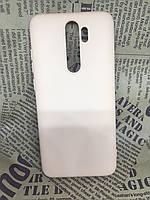 Xiaomi Redmi Note 8 Pro оригинальный матовый цветной чехол/ бампер/ накладка Silicone Case розовый/бежевый