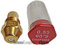 Форсунка Danfoss 0.55 Usgal/h 60° S (2.11 kg/h)  030F6910. Для дизельных горелок.