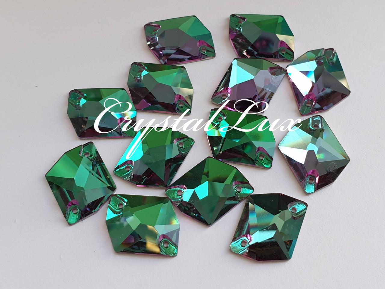 Стрази Lux Космік 21*26мм. Emerald