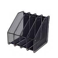 Лоток для бумаг вертикальный 4 отделения металл сетка 5-706 9-555 (23584)