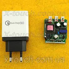 Блок живлення, мережева зарядка AR-QC-03 для пристроїв, біло-чорний.