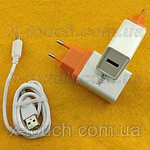 Блок живлення, мережева зарядка N3-ZJ для пристроїв, біло-помаранчевий.