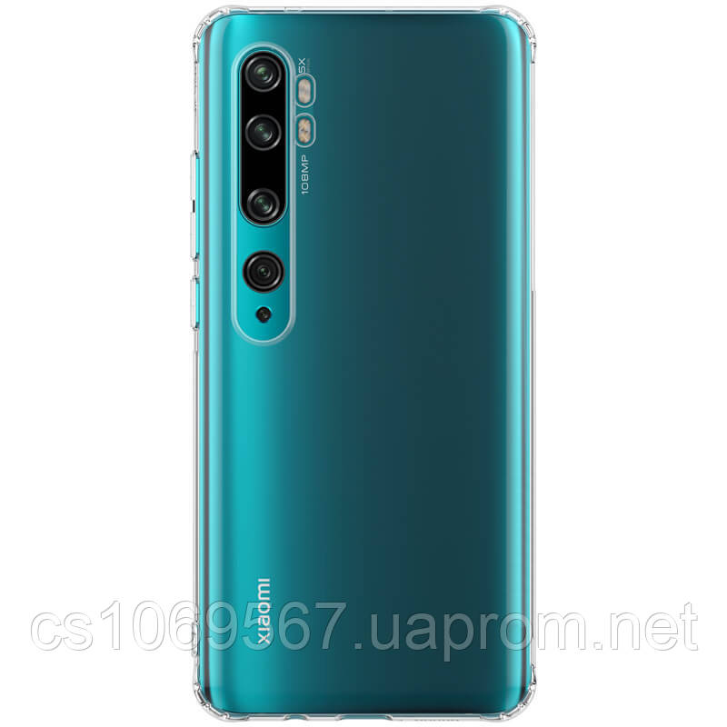TPU чехол Epic Transparent 1,0mm для Xiaomi Mi Note 10 / CC9 Pro