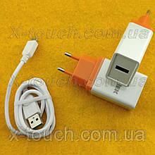 Блок живлення, мережева зарядка N5-ZJ для пристроїв, біло-помаранчевий.