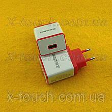 Блок живлення, мережева зарядка N8-ZJ для пристроїв, біло-червоний.