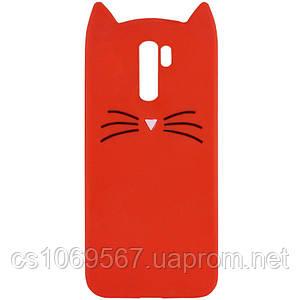 Силиконовая накладка 3D Cat для Xiaomi Redmi Note 8 Pro