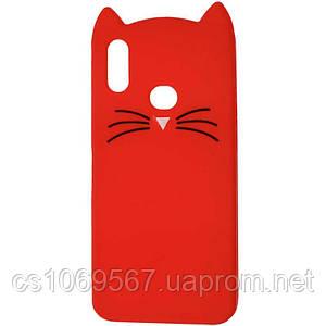 Силиконовая накладка 3D Cat для Samsung Galaxy A10s