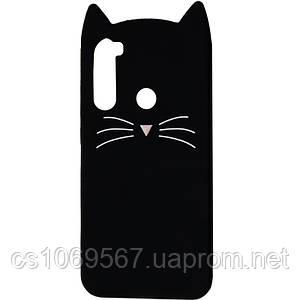 Силиконовая накладка 3D Cat для Xiaomi Redmi Note 8