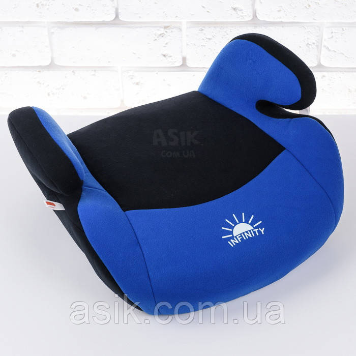 "Автокресло-сиденье (бустер) ""Infinity"" сине-чёрного цвета"