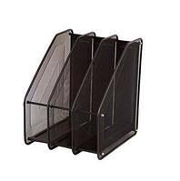 Лоток для бумаг вертикальный металл сетка на 3 отделения №95404