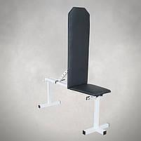 Лавка для жима регульована до 200 кг Лавка та тренажер для ніг, фото 4