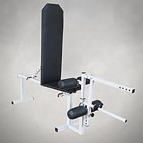 Лавка для жима регульована до 200 кг Лавка та тренажер для ніг, фото 2
