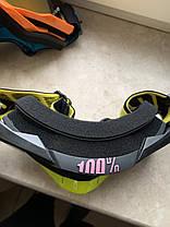 Черно-салатовые Мото очки 100% RACECRAFT Goggle Starlight - Clear + Mirror две линзы, фото 3