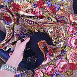 Счастливица 1122-16, павлопосадский платок (шаль) из уплотненной шерсти с шелковой вязанной бахромой, фото 7