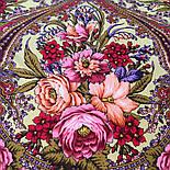 Счастливица 1122-16, павлопосадский платок (шаль) из уплотненной шерсти с шелковой вязанной бахромой, фото 3
