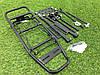 Багажник многофункциональный алюминевый,черный, под 26 колесо, фото 4