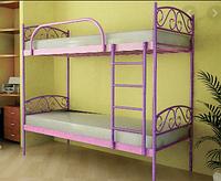 Кровать 2-х ярусная FLY DUO 800х1900 красный лак (МЕТАКАМ)