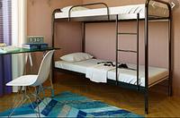 Кровать 2-х ярусная RELAX DUO 800х1900 черн. мат (МЕТАКАМ)