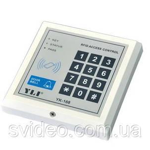 Кодовая клавиатура YK-168 со встроенным считывателем, фото 2