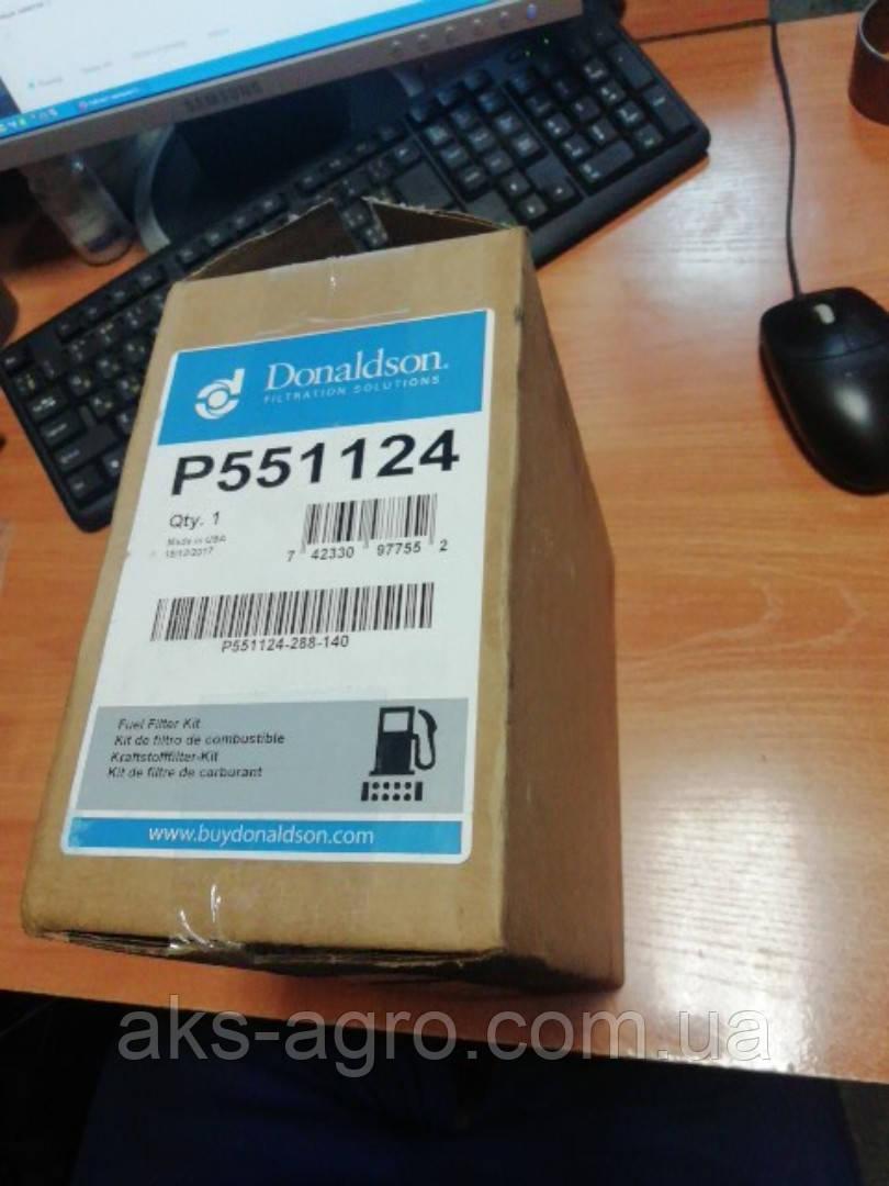 P551124Комплект фільтрів паливних (гр./т.) (RE525523 33975 BF7929 RE541746 RE556406), JD8430/8530 (Donaldson)