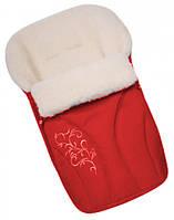Конверт на овчине Womar №25 с вышивкой Red
