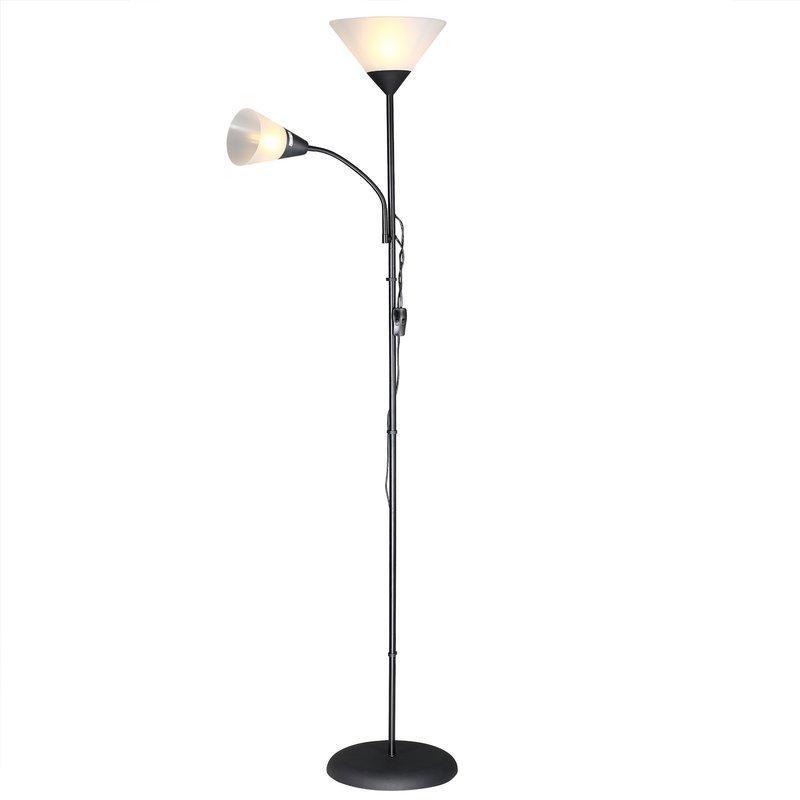 Лампа напольная 175 см ЧЕРНАЯ