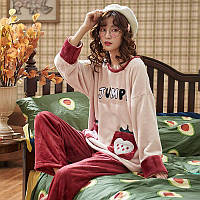 Женская пижама махра велсофт
