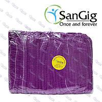 Одноразовая шапочка фиолетовая, 100 шт