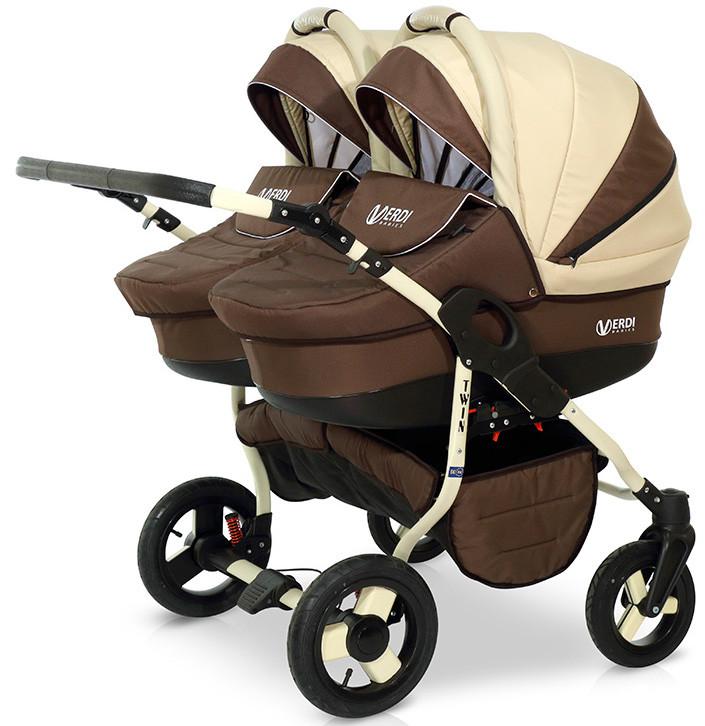 Универсальная детская коляска для двойни Verdi Twin Duo 03