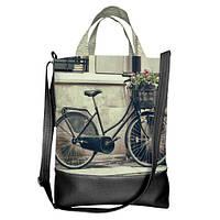 Городская сумка City Велосипед и цветы (SCB_14A146_BL)